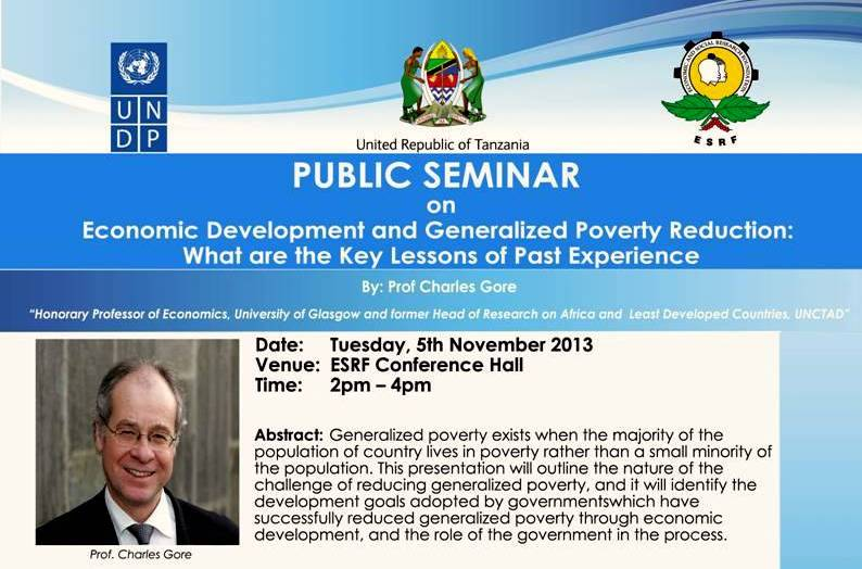 Public Seminar on Economic Development and Generalized Poverty Reduction